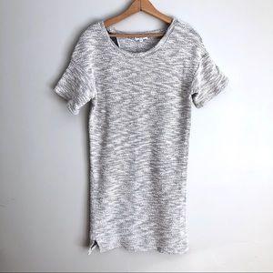 Emerson Fry Gray Cotton Knit Midi Sweater Dress